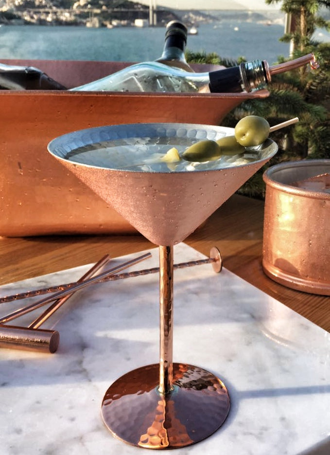Musketeers Copper Martini Glass
