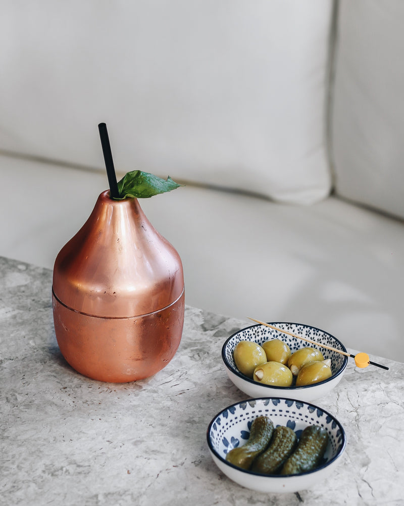 Pear Copper Cocktail Glass