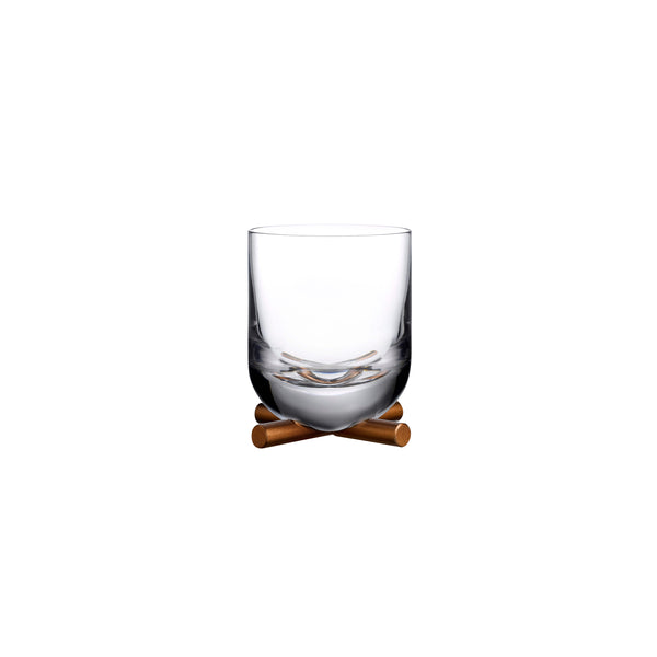 Nude Camp Whiskey Glass With Brass Base