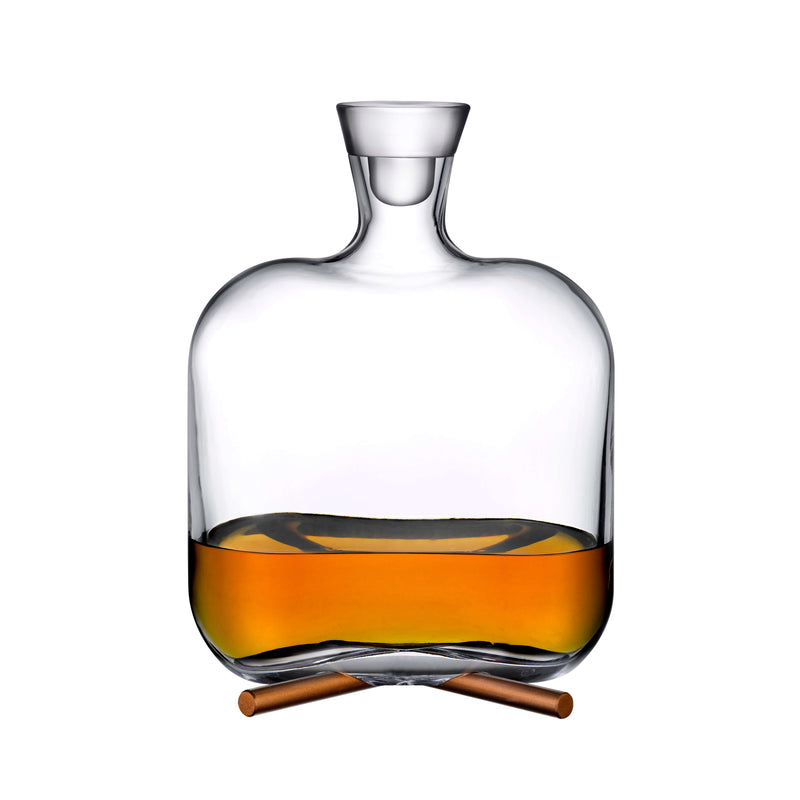 Nude Camp Whiskey Bottle With Brass Base