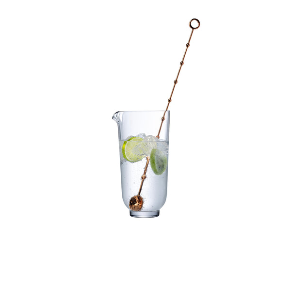 Nude Hepburn Mixing Glass with Metal Stirrer