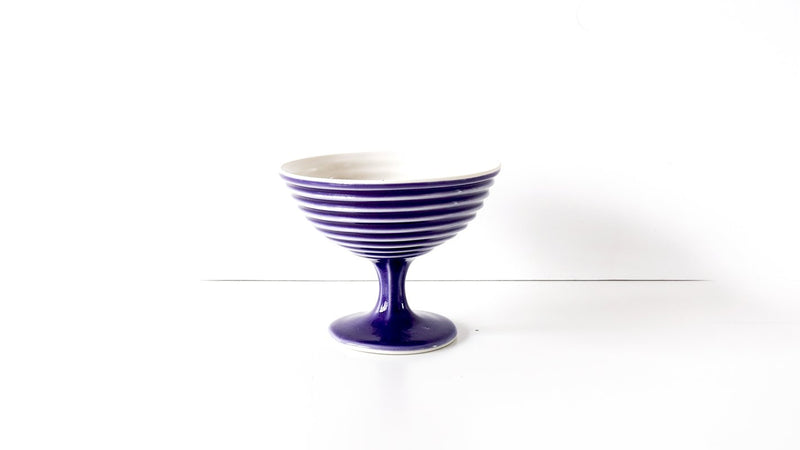 footed porcelain sorbet cup