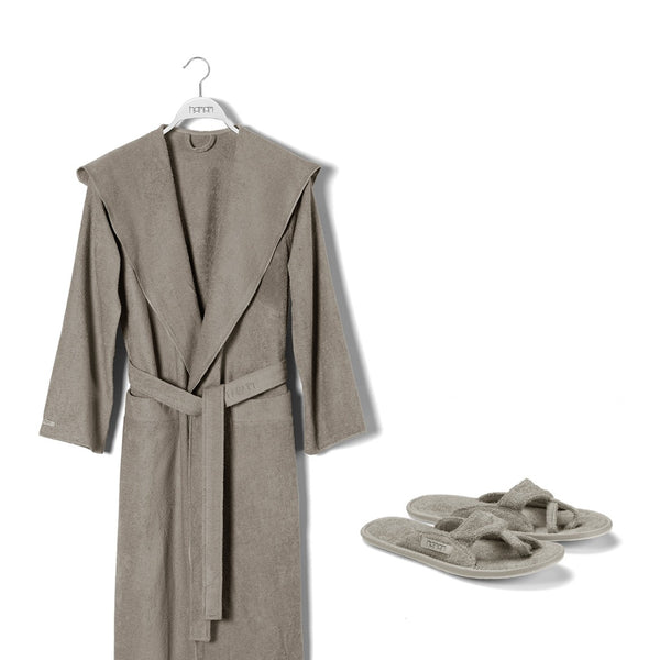 Meyzer Bathrobe & Slippers Set