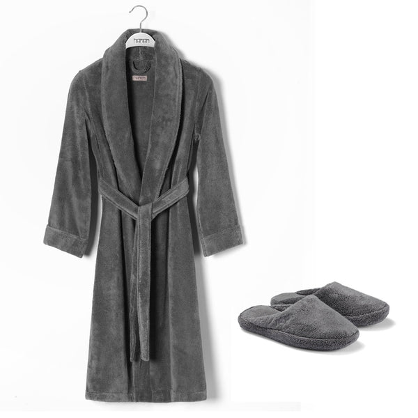 Pera Bathrobe & Slippers Set
