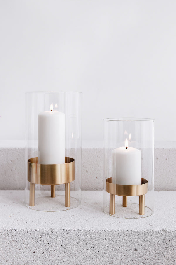 Alabaster Pillar Holder Set of 2