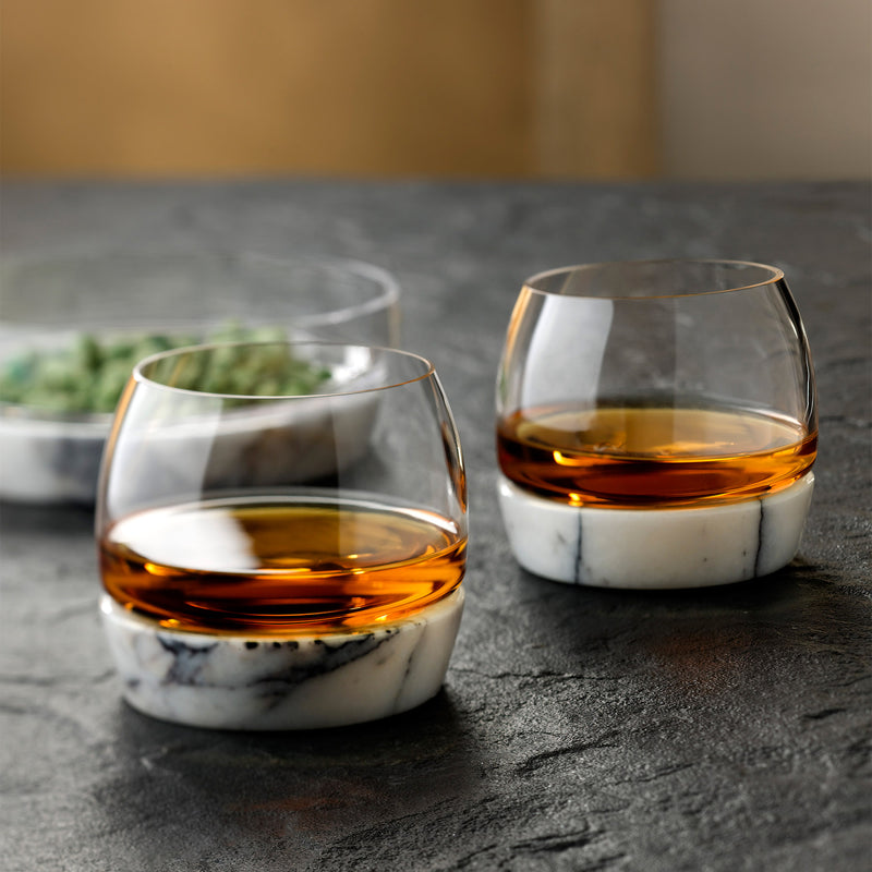 Nude Chill Whiskey Tumbler With Marble Base