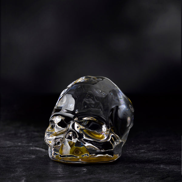 Nude Memento Mori Faceted Skull Bottom Gold Coating Small