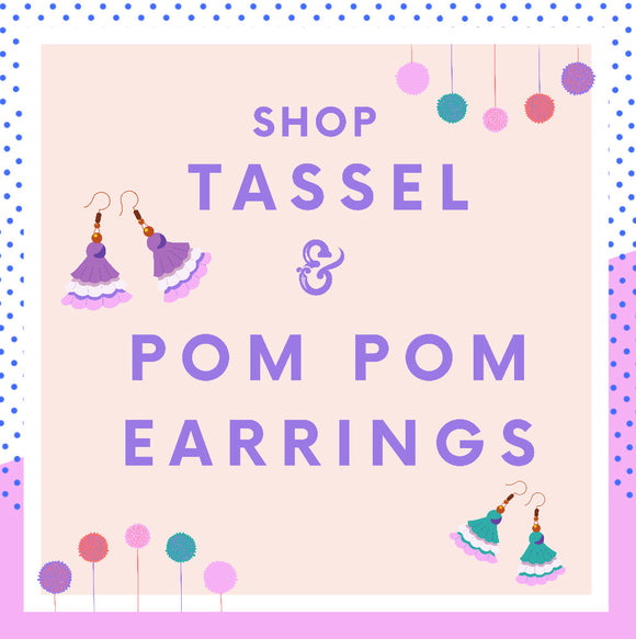 Tassel & Pom Pom Earrings