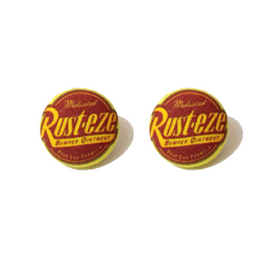 Rusteeze Cars Inspired Fabric Button Earrings - Pixar Pals