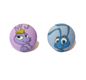 Flik & Atta Fabric Button Earrings