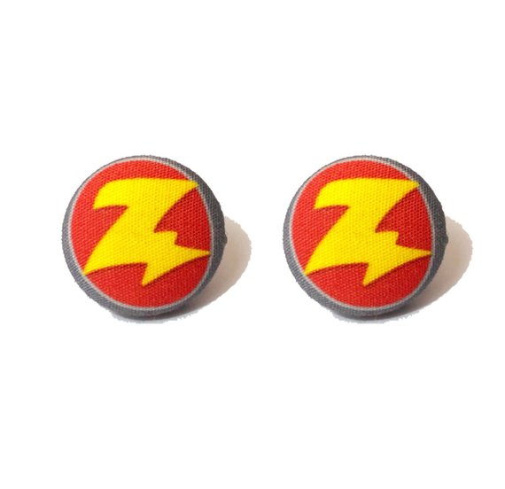 Zurg Toy Story Inspired Fabric Button Earrings - Pixar Pals