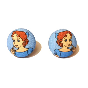 Wendy Darling Fabric Button Earrings
