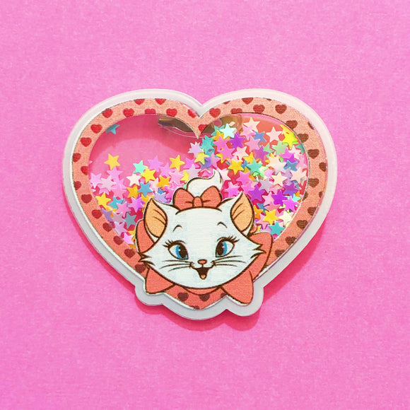 Sparkle Marie Confetti Heart Pin Brooch