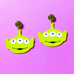 Alien Toy Story Drop Earrings