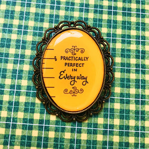 Practically Perfect Mary Poppins Cameo Brooch