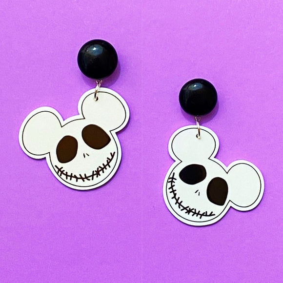Jack Skellington Mouse Acrylic Drop Earrings