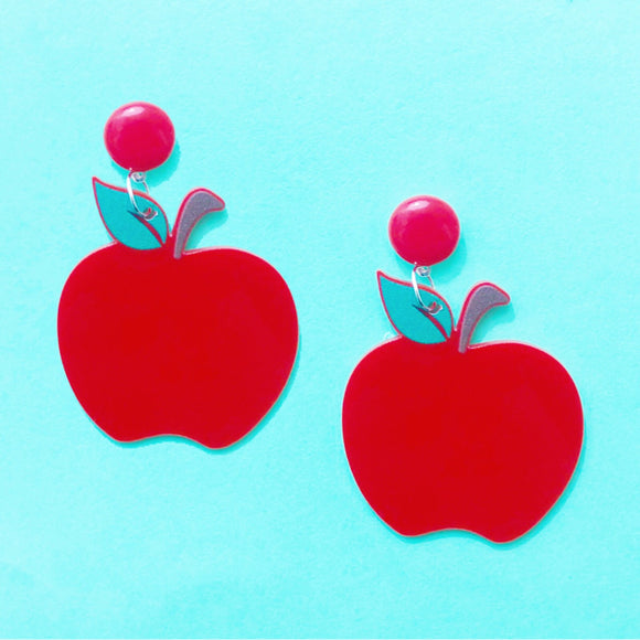 Apple Acrylic Drop Earrings