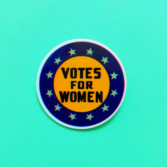Votes for Women Suffragette Round Acrylic Brooch Pin