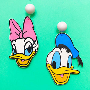 Donald & Daisy Duck Drop Earrings
