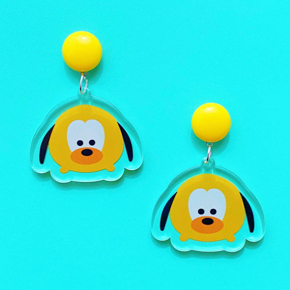 Pluto Tsum Tsum Acrylic Drop Earrings