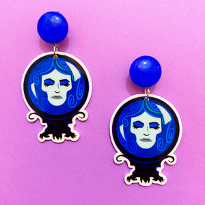 Madame Leota Haunted Mansion Acrylic Drop Earrings