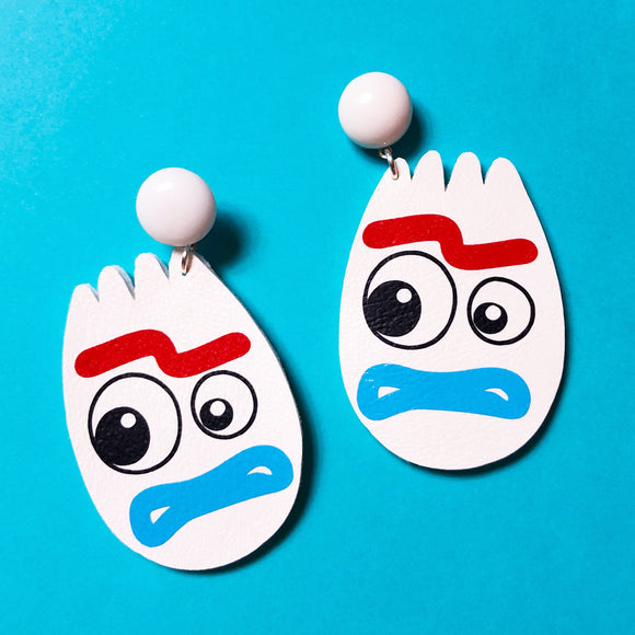 Forky Toy Drop Earrings