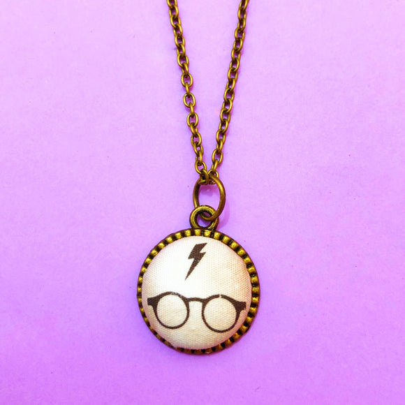 Harry Potter Glasses Round Necklace