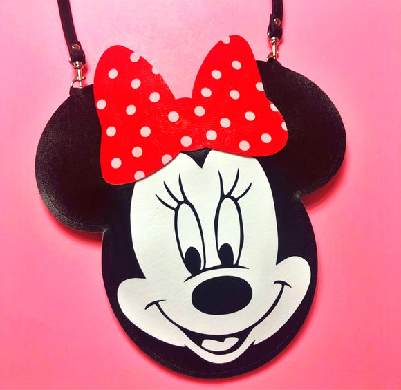 Minnie Mouse Inspired Purse - Red Polka Dot Bow