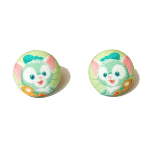 Gelatoni Cat Duffy & Friends Fabric Button Earrings