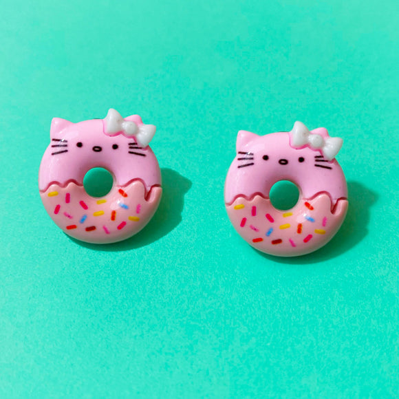 Hello Kitty Donut Post Earrings