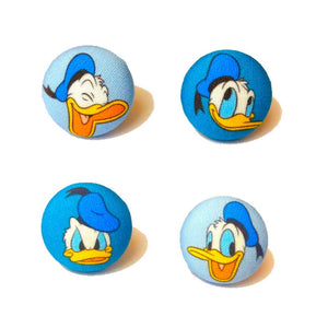 The Moods Of Donald Duck Fabric Button Earring Set