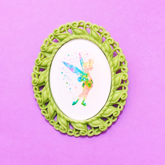Tinker Bell Silhouette Cameo Brooch