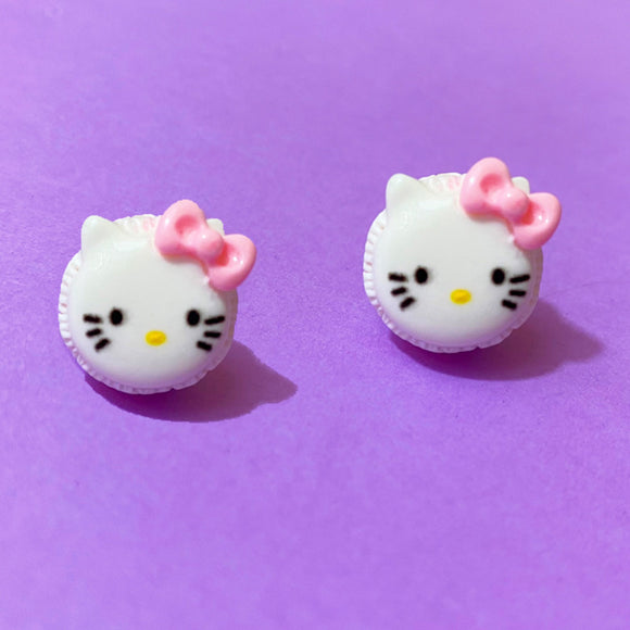 Hello Kitty Macaron Post Earrings