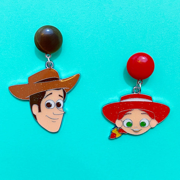 Woody & Jessie Toy Story Enamel Drop Earrings