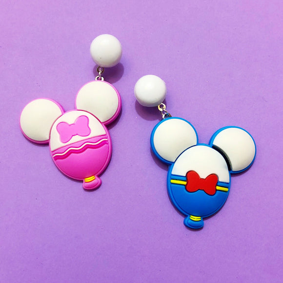 Donald & Daisy Duck Mouse Balloon Drop Earrings
