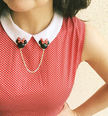 Modern Minnie Mouse Collar Clips or Sweater Guards