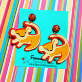 Baby Simba Symbol Lion King Drop Earrings
