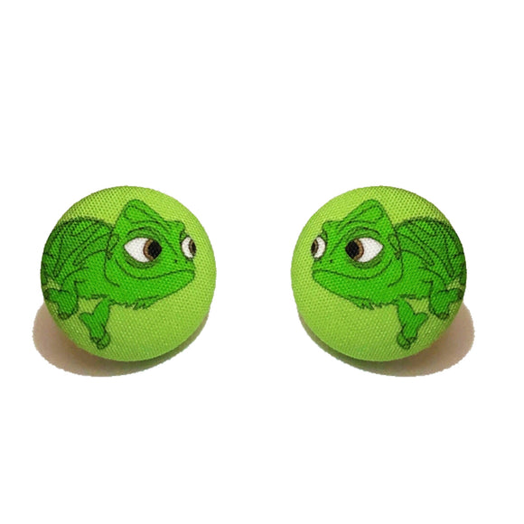 Pascal Tangled Fabric Button Earrings