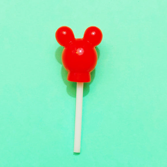 Red Mickey Mouse Lollipop Pin Brooch