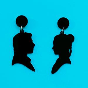 Han & Leia Silhouette Acrylic Drop Earrings