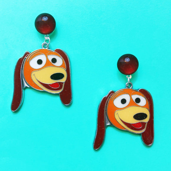 Slinky Dog Toy Story Enamel Drop Earrings