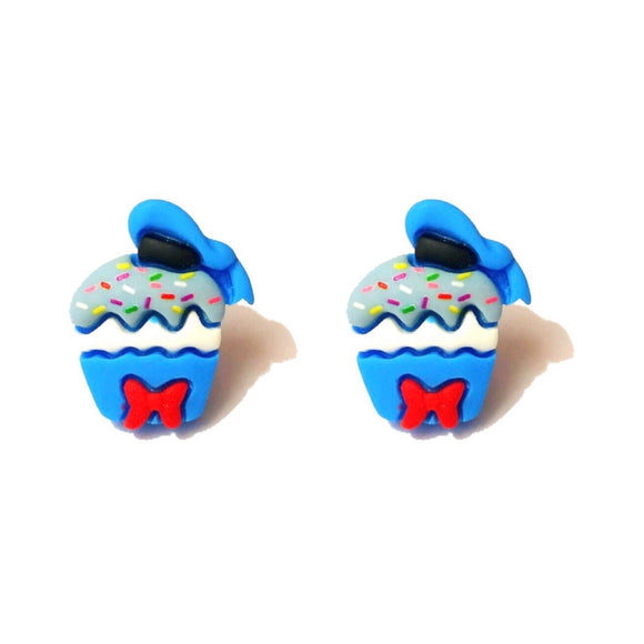 Donald Duck Cupcake Post Earrings