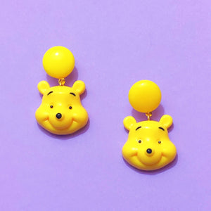Winnie The Pooh Resin Drop Earrings