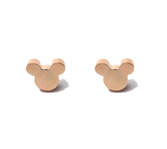 Minimalist Mouse Earrings in Gold