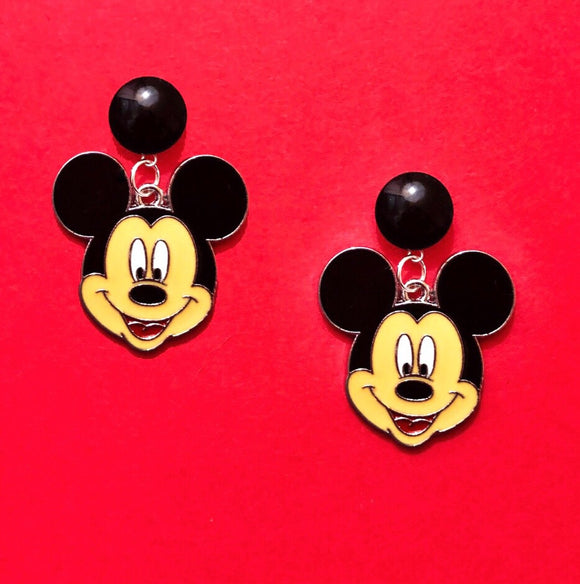 Mickey Mouse Enamel Drop Earrings