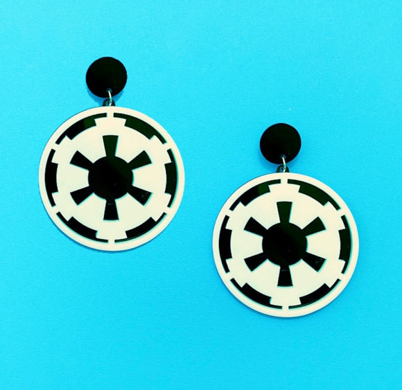Galactic Empire Imperial Seal Acrylic Drop Earrings