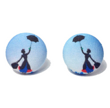 """Cherry Tree Lane"" Mary Poppins Silhouette Earrings"