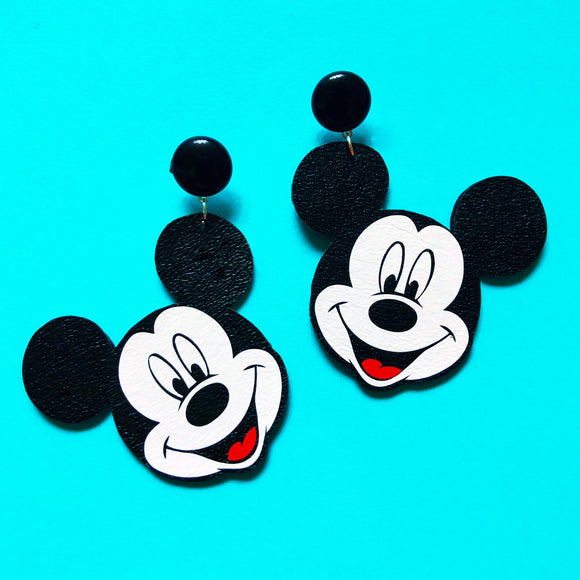 Mickey Mouse Vinyl Drop Earrings