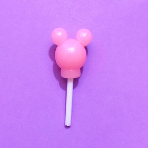 Pink Mickey Mouse Lollipop Pin Brooch