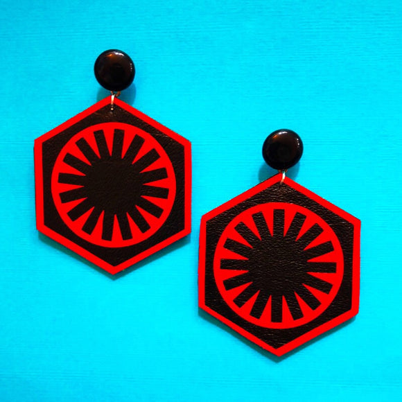 First Order Logo Star Wars Drop Earrings
